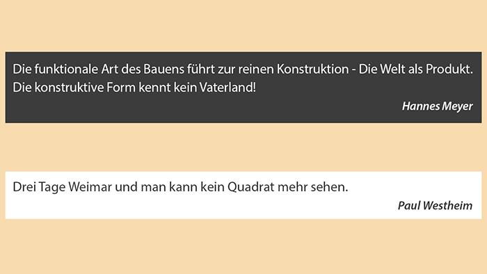 Bauhaus-Zitate