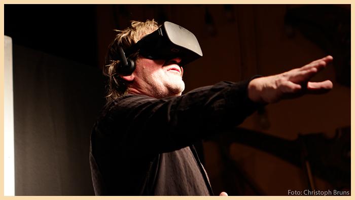 Herbert Beesten mit 3D Brille